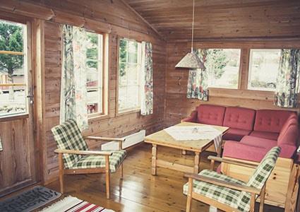 Интерьер норвежского домика в кемпинге