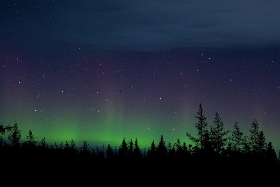В парке Паанаярви есть большая вероятность увидеть северное сияние — из-за близкого расположение к полярному кругу