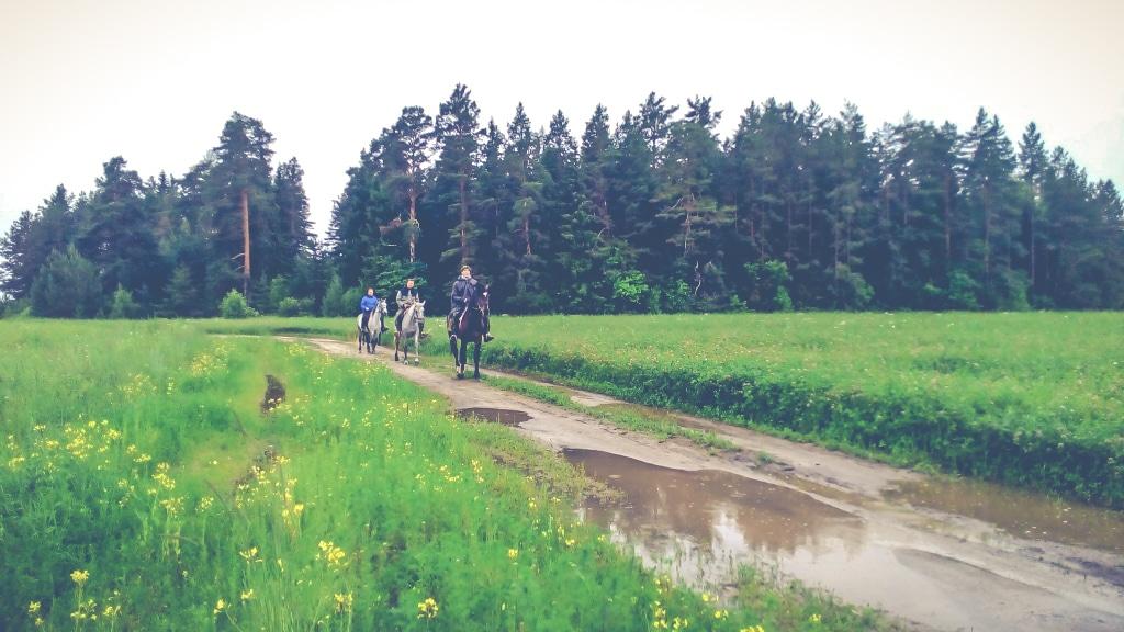 Прогулка на лошадях к озерам