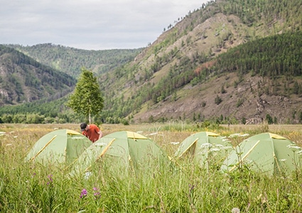 Палатки на Байкале