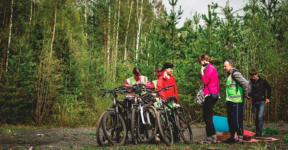 На велосипедах по Карелии