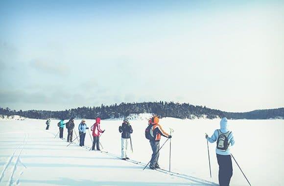Выходные на лыжах в Карелии
